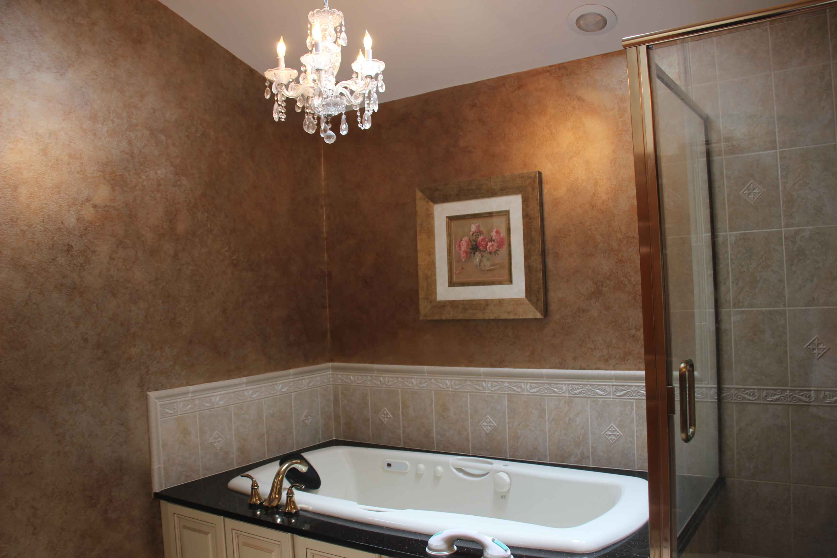 Faux painting bathroom - Full View